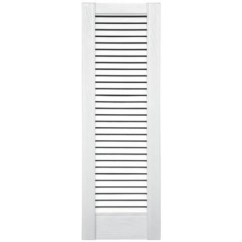 Shutters By Design 18 Quot W Vinyl Full Louvered Panel