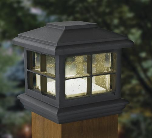 Landscape Lighting Mn: Patriot Lighting® Black Melvin Low-Voltage Post Cap Light