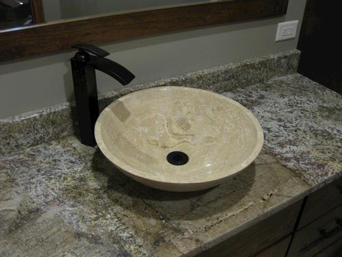 Novatto Beige Travertine Vessel Bathroom Sink At Menards®