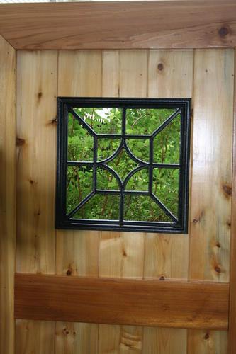 Nuvo Iron Squarediamond Wooden Gate Decorative Accessory At Menards