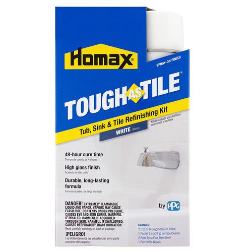 Bon Homax® Tough As Tile Tub U0026 Sink Refinishing Kit   Spray On ...