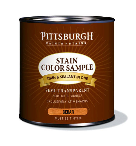 Pittsburgh Paints Stains Exterior Stain Color Samples Cedar At Menards