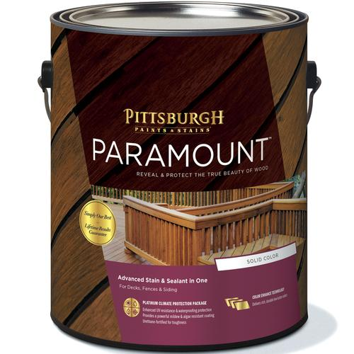 Pittsburgh Paints Stains Paramount Exterior Wood Stain 1 Gal At Menards
