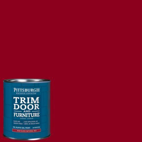 pittsburgh paints u0026 stains highgloss paint national red 1 qt at menards