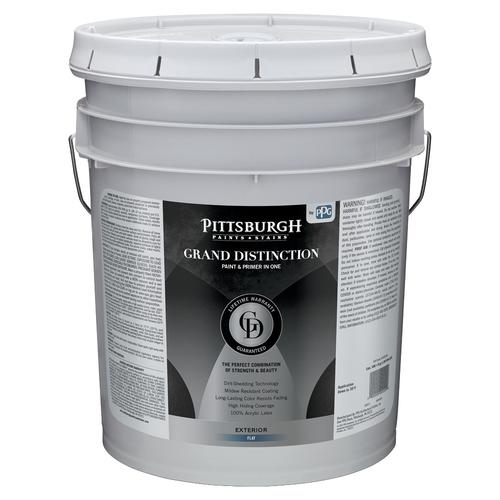 Pittsburgh Paints Stains Grand Distinction Exterior Flat Paint And Primer 5 Gal At Menards