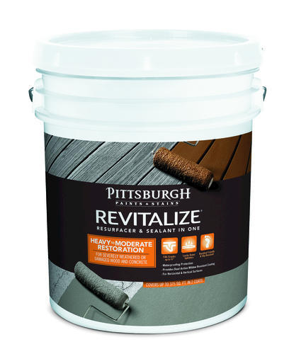 Pittsburgh Paints & Stains® Revitalize® Resurfacer & Sealant in One  Heavy-Moderate Resurfacer - 5 gal. at Menards®