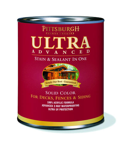 Pittsburgh Paints Stains Ultra Advanced Solid Color Clear Wood Stain Sealant 1 Qt At Menards