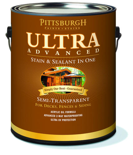 Pittsburgh Paints U0026 Stains® Ultra Advanced Semi Transparent Brick Red Wood  Stain U0026 Sealant   1 Gal. At Menards®