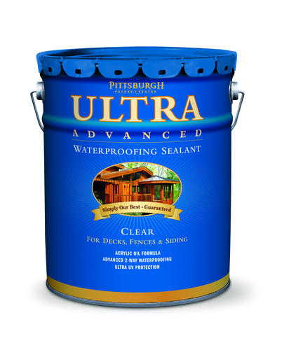Pittsburgh Paints Stains Ultra Advanced Clear Waterproofing