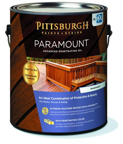 Pittsburgh Paints Stains Paramount Exterior Advanced Penetrating Oil Stain Kona Brown 1