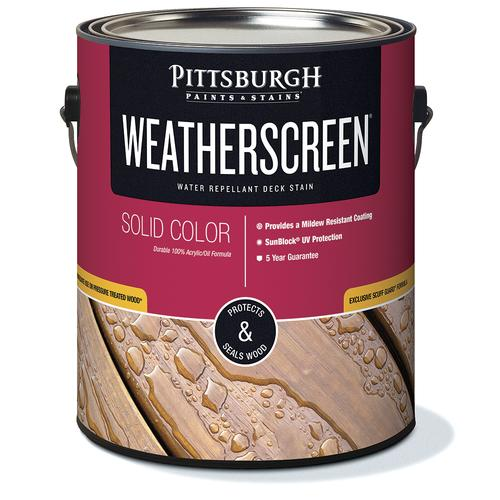 Pittsburgh Paints & Stains® Weatherscreen® Solid Color Clear