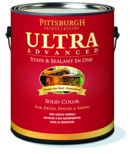 Pittsburgh Paints Stains Ultra Advanced Solid Color Navajo Red Wood Stain Sealant 1 Gal At Menards
