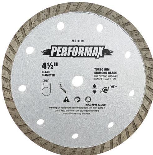 Performax Turbo Rim Diamond Blade For Masonry At Menards