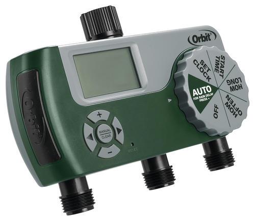 Orbit 3 Station Digital Hose Bibb Outdoor Irrigation Timer At Menards