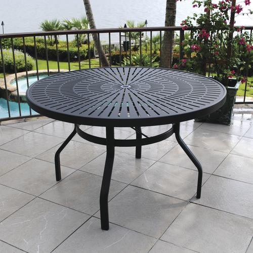 backyard creations sanibel round dining patio table at menards - Backyard Creations Patio Furniture