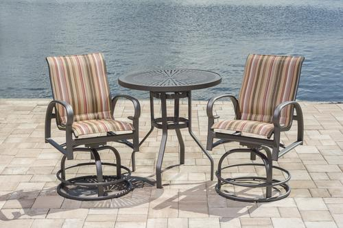 Backyard Creations® Legacy Collection 3-Piece High Bistro Patio Set in Red & Backyard Creations® Legacy Collection 3-Piece High Bistro Patio Set ...