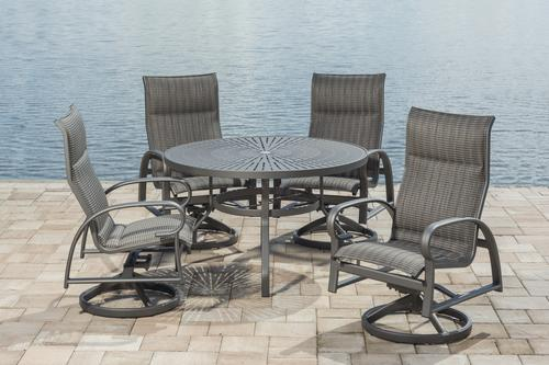 Backyard Creations Legacy Collection 5 Piece Dining Patio Set In Gray
