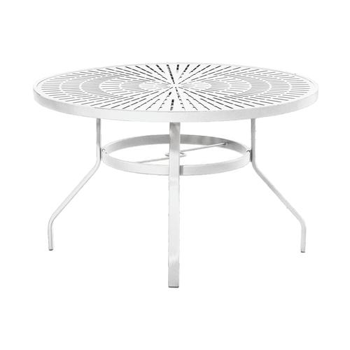 Commercial Grade 48 Round Stamped Top Dining Patio Table At Menards