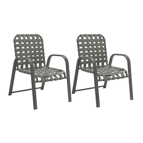 Incredible Commercial Grade Dining Patio Chair 2 Pack At Menards Home Interior And Landscaping Dextoversignezvosmurscom
