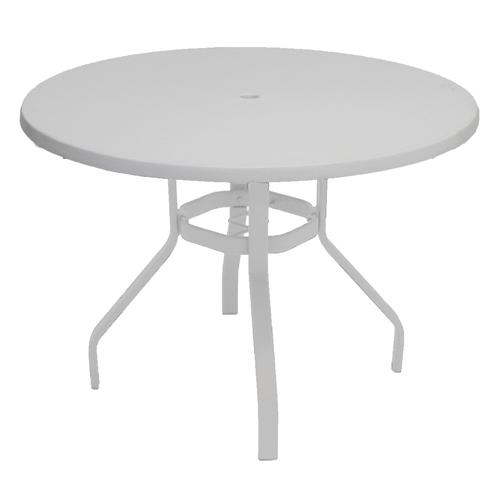 Commercial Grade 42 Round Fiberglass Top Dining Patio Table At Menards