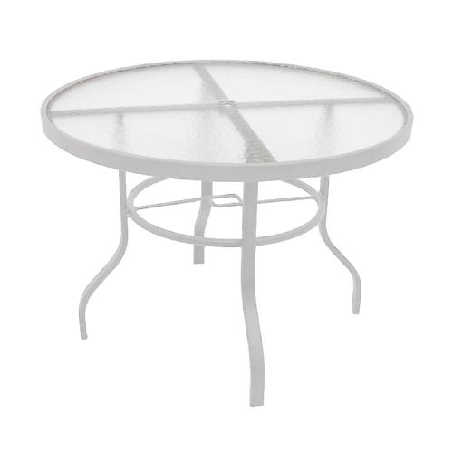 Strange Commercial Grade 42 Round Acrylic Top Dining Patio Table At Pabps2019 Chair Design Images Pabps2019Com