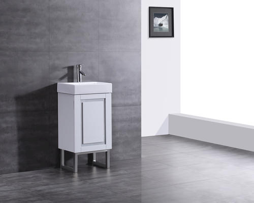 "ove décors 18''w x 13""d amos vanity and white porcelain vanity top 18 Bathroom Vanity"