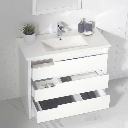 Ove D 233 Cors 40 Quot W X 18 Quot D White Brooklyn Vanity And White