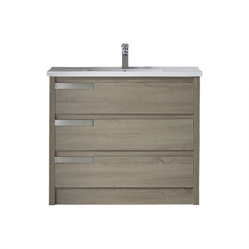 Ove Decors Brooklyn 40 W X 19 D Distressed Mocha Vanity And White Porcelain Vanity Top With Rectangular Integrated Bowl At Menards