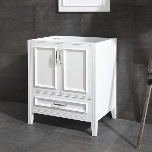 Ove Décors Claire 30 W X 21 D White Bathroom Vanity Cabinet