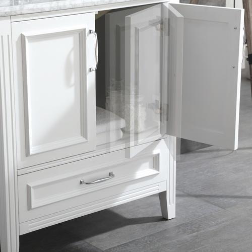 "OVE Décors Claire 30""W x 21""D White Bathroom Vanity ..."