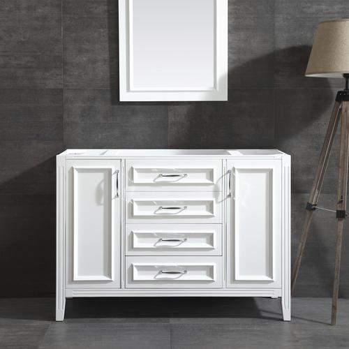 Ove D 233 Cors Claire 48 Quot W X 21 Quot D White Bathroom Vanity Cabinet At Menards 174