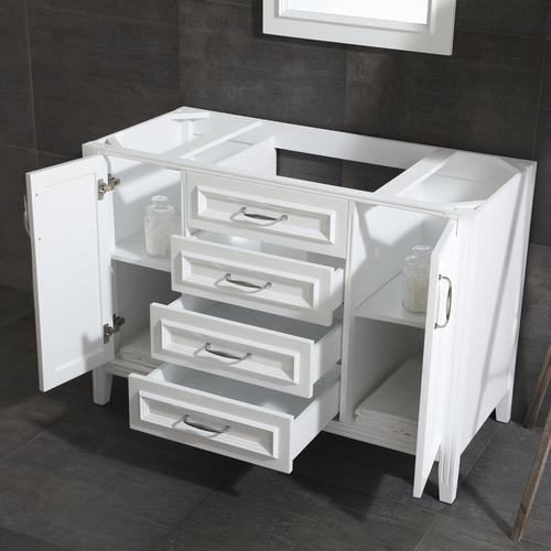 Ove d cors claire 48 w x 21 d white bathroom vanity - Menards bathroom vanities 48 inches ...