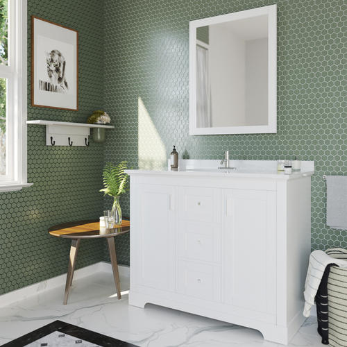 Ove Decors 42 W X 22 D White Emma Vanity And White Cultured