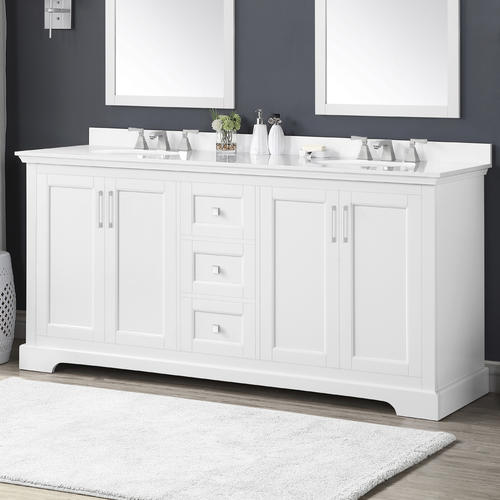 Emma Vanity And White Cultured Stone