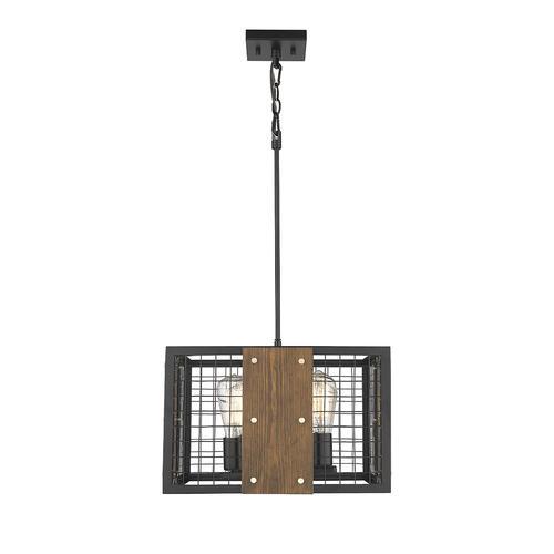 Patriot Lighting® Elegant Home Finn III Black Rustic Wood