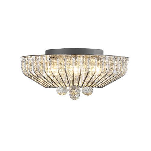 Menards Turbo Fan Lighting Led Flush Mount Ceiling Lights: Patriot Lighting® Mio 5-Light Crystal LED Flush Mount