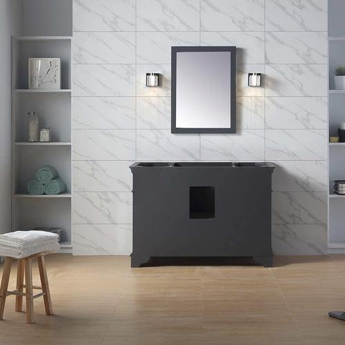 Fabulous Ove Decors Salzburg 48W X 21D Dark Charcoal Bathroom Beatyapartments Chair Design Images Beatyapartmentscom
