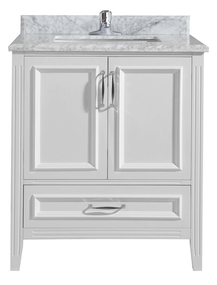 Ove Décors Claire 30 W X 21 D White Bathroom Vanity Cabinet At Menards