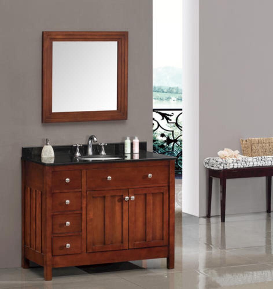 Ove Decors Adam 42 W X 22 D Vanity And Black Granite Vanity Top With Oval Undermount Bowl At Menards