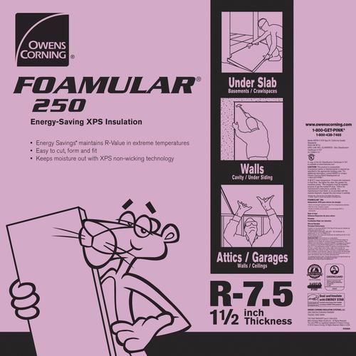 Owens Corning Foamular R 7 5 Extruded Polystyrene Foam Board Insulation 1 1 2 X 4 X 8 At Menards