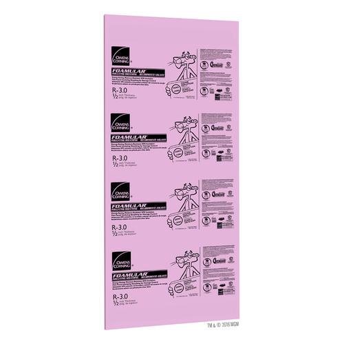 Owens Corning Foamular R 3 Extruded Polystyrene Foam Board Insulation 1 2 X 4 X 9 At Menards