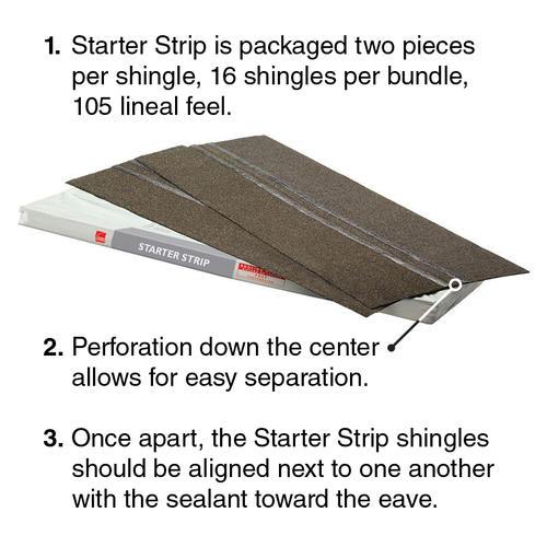 Owens Corning Starter Strip Plus Shingles 105 Lin Ft