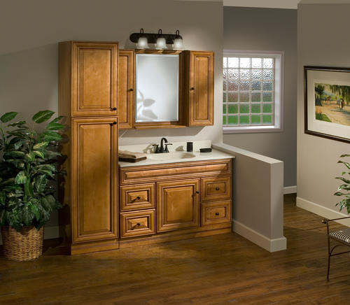 "Bathroom Vanity And Linen Cabinet pace plantation series 18"" x 84"" x 21"" linen cabinet at menards®"