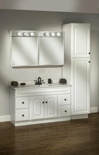 Pace 24 Quot Frameless Lighted Beveled Mirror Medicine Cabinet