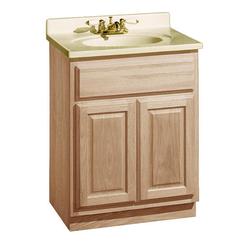 "Bathroom Vanity 24 X 21 pace 24"" x 21"" unfinished oak 2-door vanity at menards®"