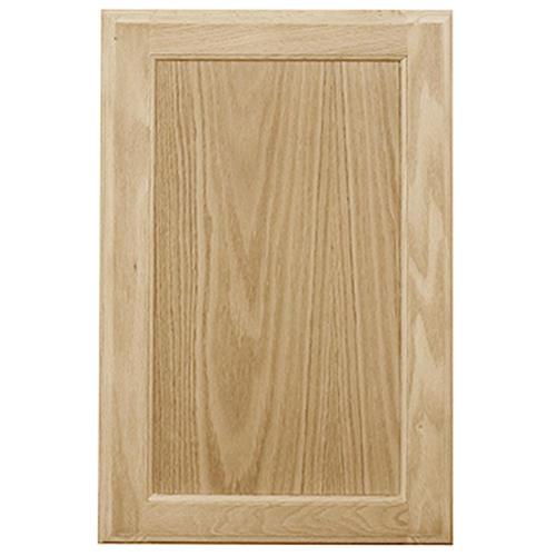Mastercraft Unfinished Oak Square Recessed Panel Cabinet Door At