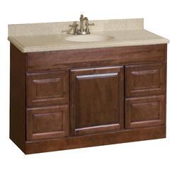 """Bathroom Vanities 48 X 18 pace valencia series 48"""" x 18"""" vanity with drawers at menards®"""