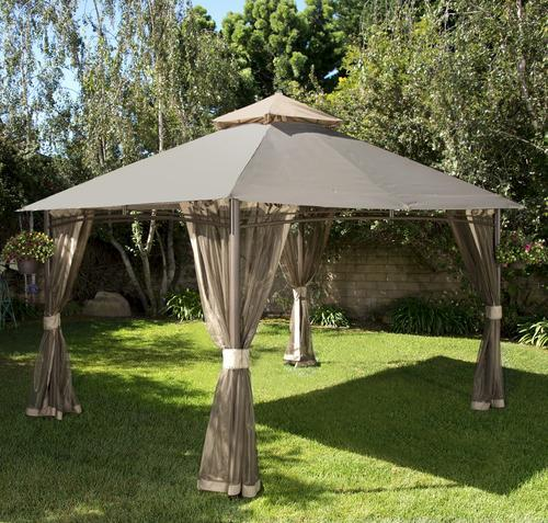& Backyard Creations™ 13u0027 x 10u0027 Roof Style Gazebo at Menards®