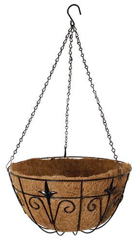 Master Garden 14 Black Metal Hanging Basket At Menards