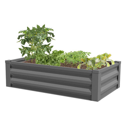 Outstanding 48 X 36 Metal Raised Garden Bed At Menards Pabps2019 Chair Design Images Pabps2019Com